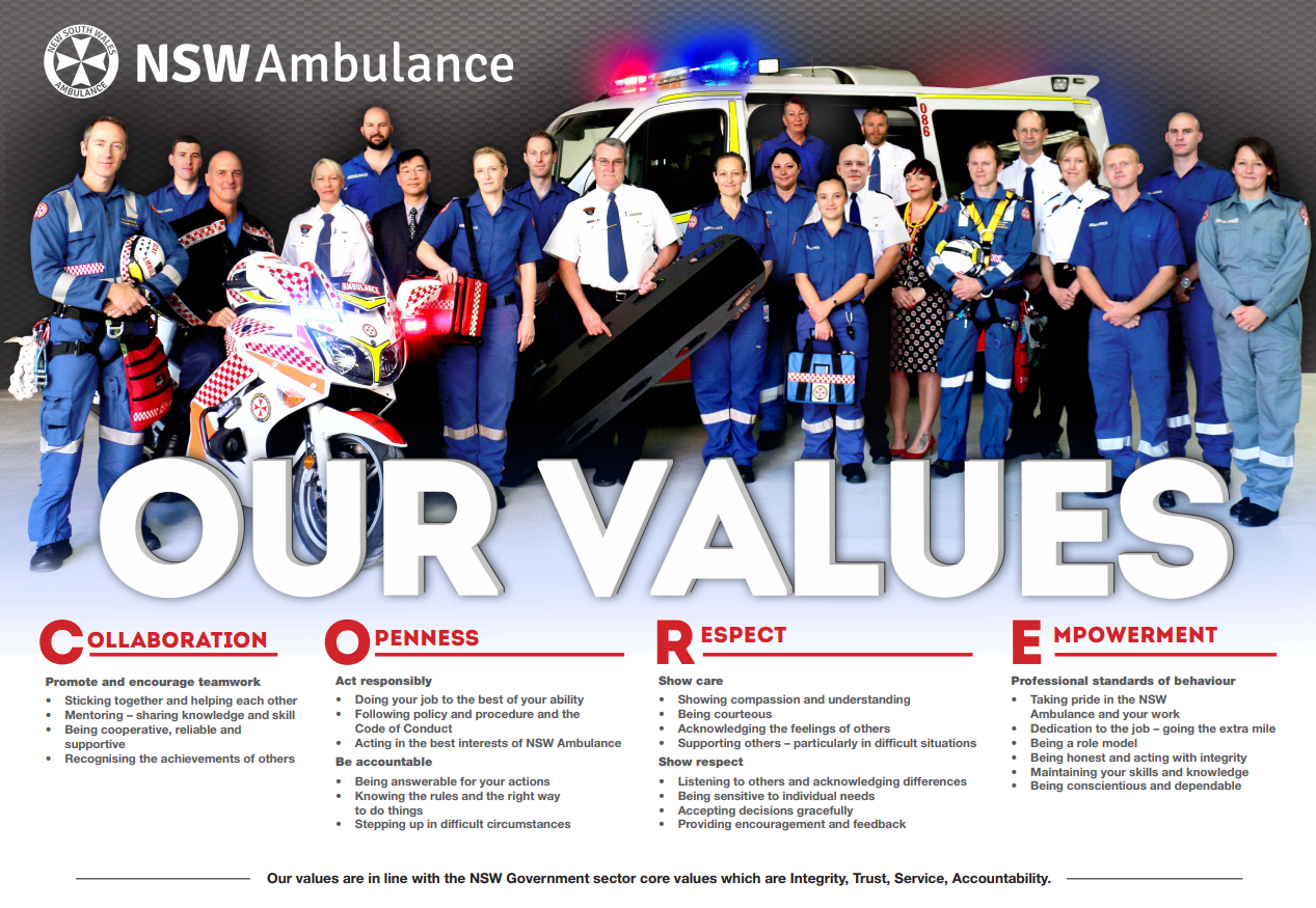 NSW Ambulance Values